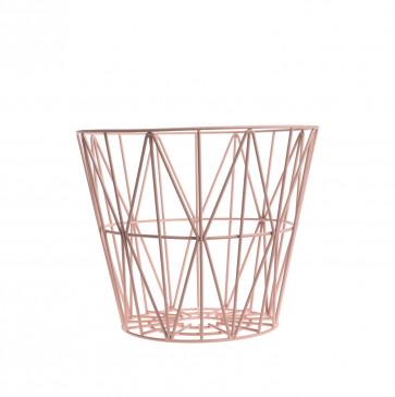 Ferm Living Wire Basket medium roze