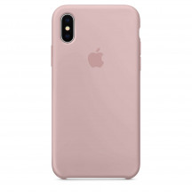 Apple iPhone X siliconenhoesje rozenkwarts