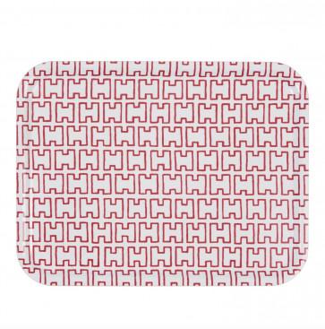 Artek H55 dienblad wit/rood
