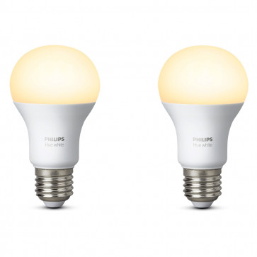 Philips Hue White E27-lampen duopak