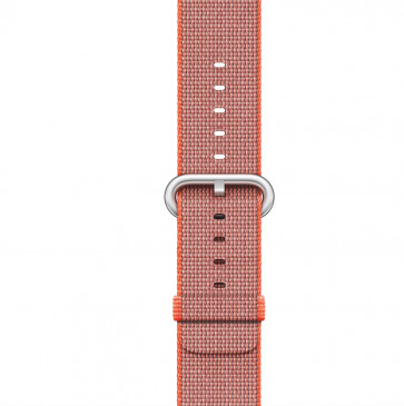 Apple Watch space-oranje/antraciet geweven nylon bandje