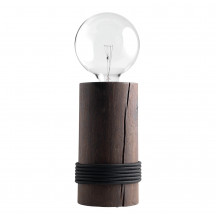 The Oak Men Log Lamp gerookte eik/zwart