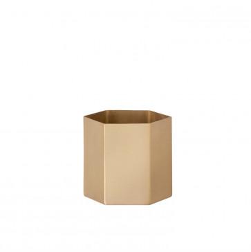 Ferm Living Hexagon pot brass large