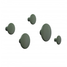 Muuto Dots kledinghaken dusty green