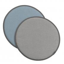 Vitra Seat Dot crème/sierra grijs - lichtgrijs/ijsblauw