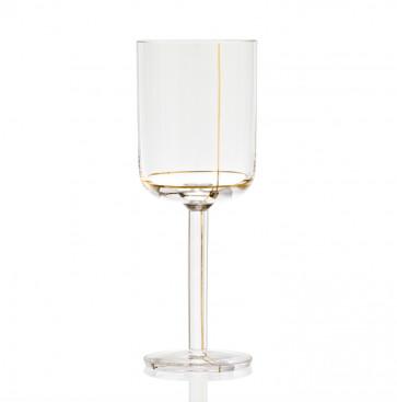 Hay Colour Glass witte wijn, gouden lijn