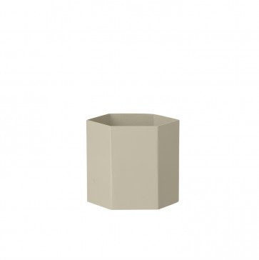 Ferm Living Hexagon pot grijs large