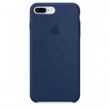 Apple iPhone 8 Plus/7 Plus siliconenhoesje donker kobalt