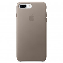 Apple iPhone 8 Plus/7 Plus leren hoesje taupe