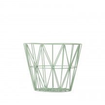 Ferm Living Wire Basket small munt