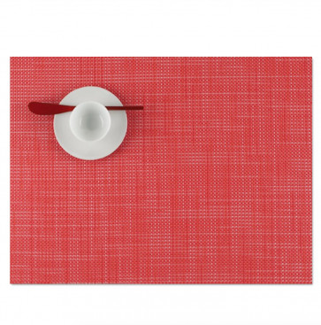 Chilewich placemat mini basketweave strawberry
