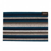 Chilewich deurmat Even Stripe marine