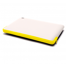 C6 Zip Sleeve 13-inch MacBook Air/Pro Retina stone/neon geel