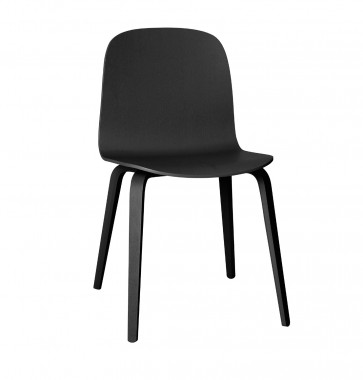 Muuto Visu Chair Wood Frame zwart
