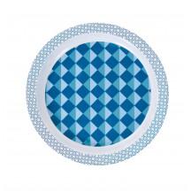 Sebra melamine bord blauw