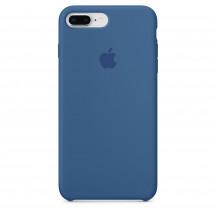 Apple iPhone 8 Plus/7 Plus siliconenhoesje jeansblauw