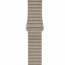 Apple Watch steengrijs leren bandje