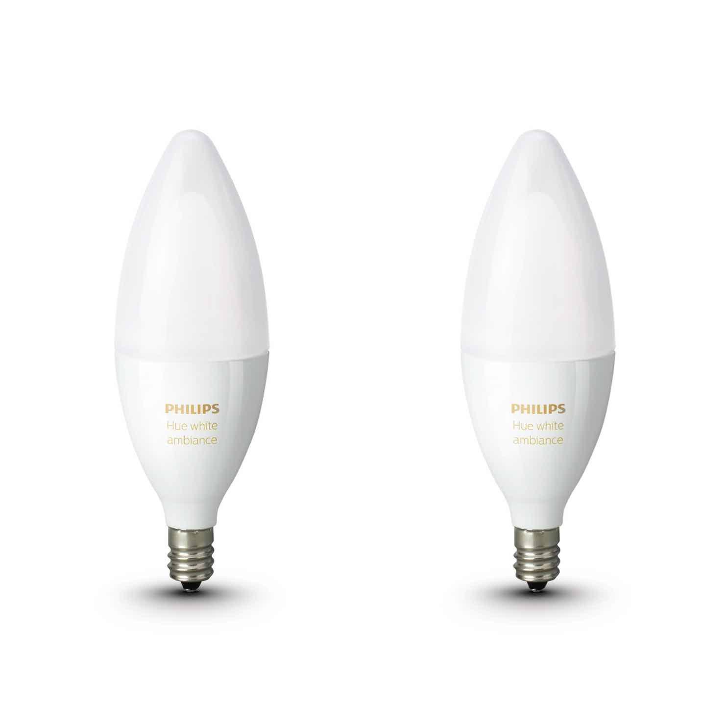 Philips Hue Lampen E14.Philips Hue White Ambiance E14 Kaarslampen Duopak