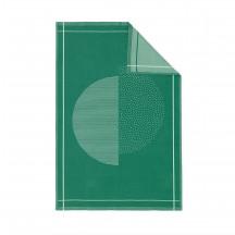 Normann Copenhagen keukenhanddoek Illusion groen