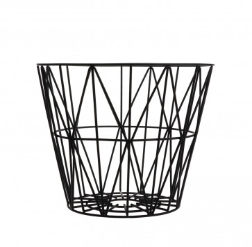 Ferm Living Wire Basket large zwart
