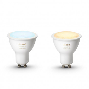 Philips Hue White Ambiance GU10-lampen duopak