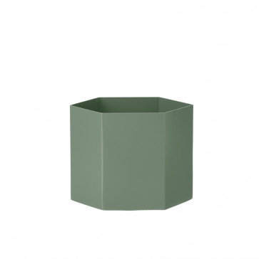 Ferm Living Hexagon pot dusty green XL