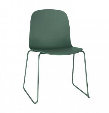 Muuto Visu Chair Sled Base donkergroen