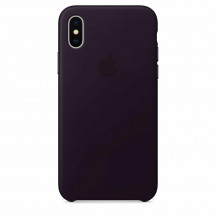 Apple iPhone X leren hoesje aubergine