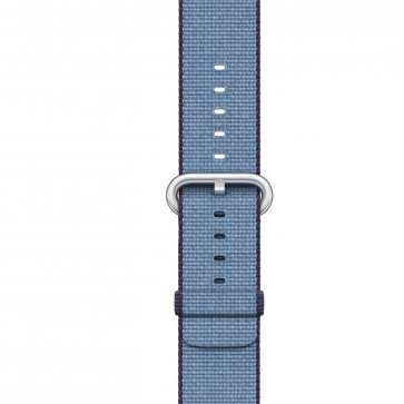 Apple Watch marine/tahoe blauw geweven nylon bandje
