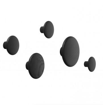 Muuto Dots kledinghaken zwart