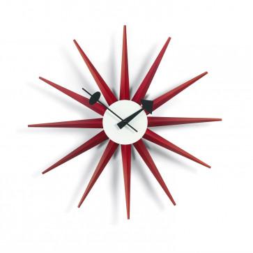 Vitra Sunburst Clock rood