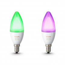 Philips Hue White & Color Ambiance E14-kaarslampen duopak