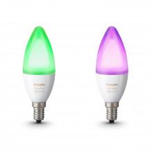 Philips Hue White & Color Ambiance E14-kaarslampen duopak