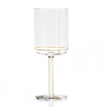 Hay Colour Glass rode wijn, gouden lijn