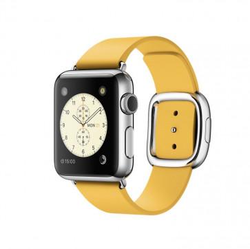 Apple Watch roestvrij staal 38mm okergeel bandje moderne gesp