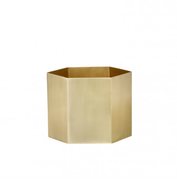 Ferm Living Hexagon pot brass XL