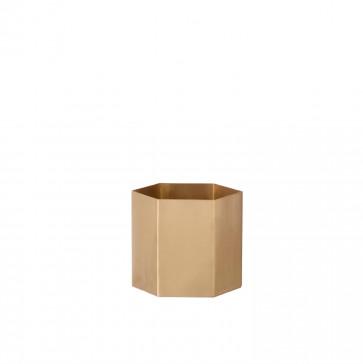Ferm Living Hexagon pot brass small