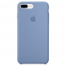 Apple iPhone 8 Plus/7 Plus siliconenhoesje azuurblauw