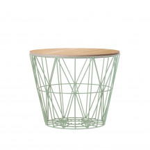 Ferm Living Wire Basket Table medium munt