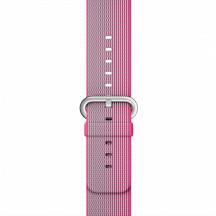 Apple Watch roze geweven nylon bandje