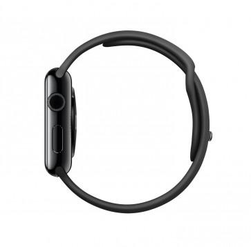 Apple Watch spacezwart roestvrij staal 42mm zwart sportbandje