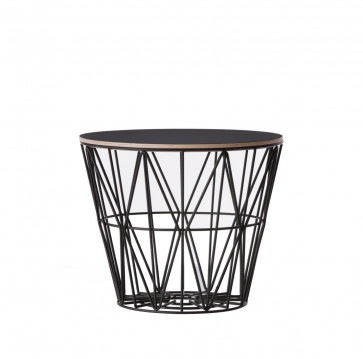 Ferm Living Wire Basket Table small zwart