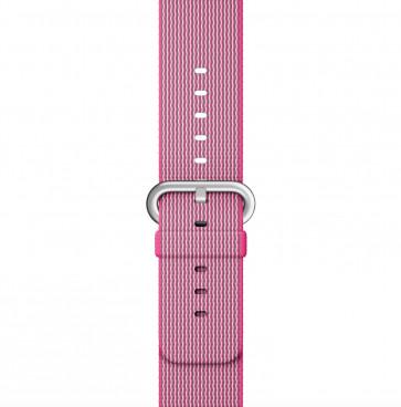 Apple Watch roze geweven nylon bandje