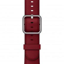 Apple Watch leren bandje met klassieke gesp PRODUCT(RED)