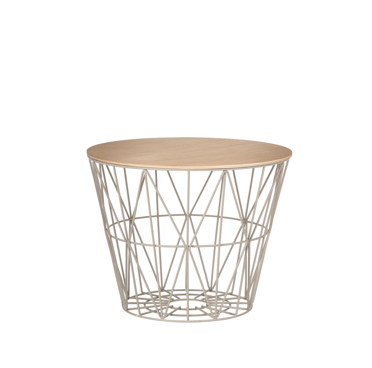 ferm living wire basket table small grijs. Black Bedroom Furniture Sets. Home Design Ideas