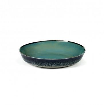 Serax Terres de Rêves schaal 17,5 cm blauwgrijs / donkerblauw