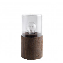 The Oak Men Lantern Lamp (gerookte eik/smoked glas)