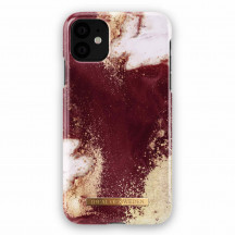 iDeal of Sweden iPhone 11 Case golden burgundy marble