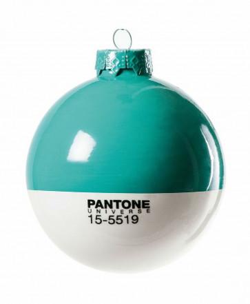 Pantone Universe kerstbal turquoise