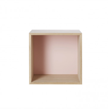 Muuto Stacked medium ash (met rugwand roze)